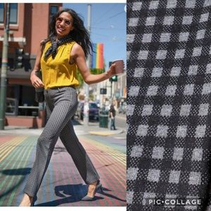 Betabrand Gingham Plaid Dress Pant Yoga Pants